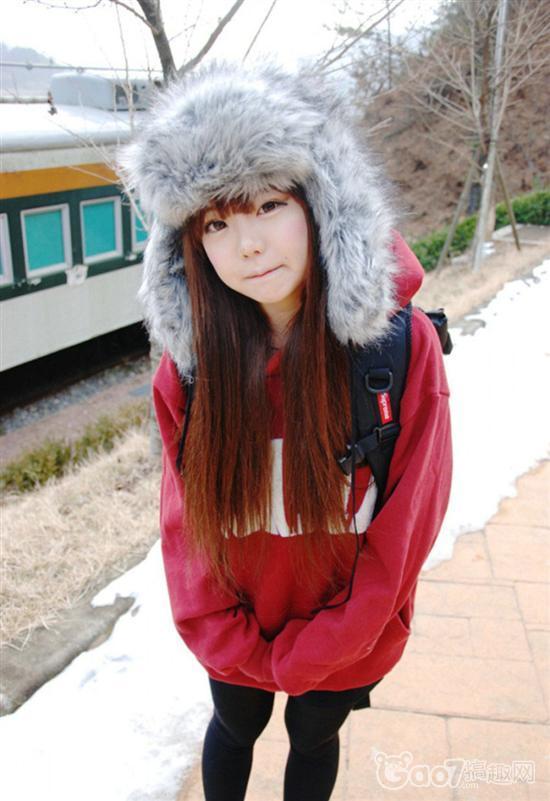 韩国小清新美女俏皮可爱
