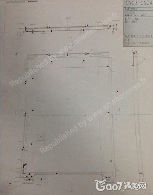 苹果ipad 5设计图纸流出 详细尺寸曝光