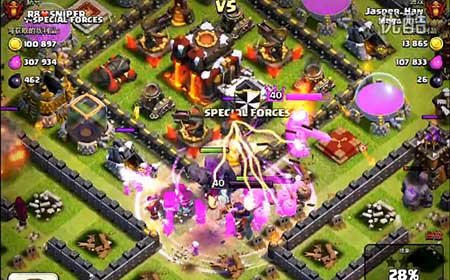 coc《部落战争》新版本地狱之塔群攻 地狱之塔多目标攻击
