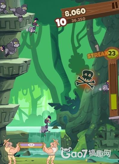游戏中你要做的就是拯救不断跳崖的动物们