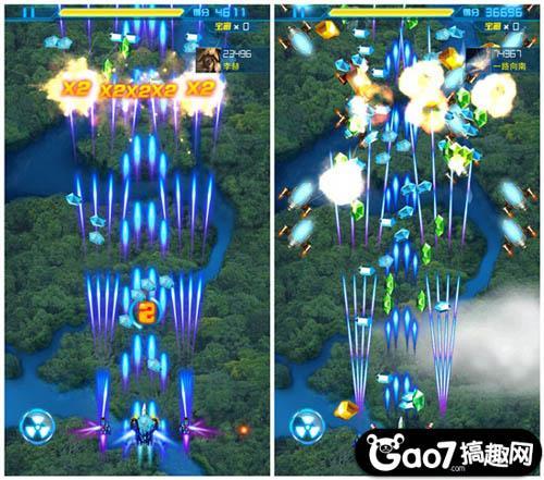 相比《全民飞机大战》而言,《雷霆战机》加入了装备系统,玩家可以根据