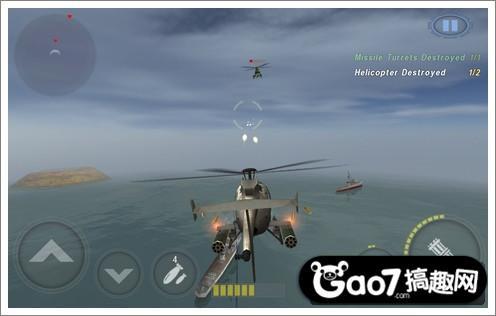 《炮艇战:3d直升机》评测:模拟飞行 空中的霸主